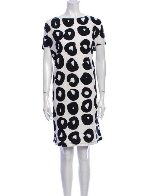 Marimekko Printed Knee-Length Dress w/ Tags Black