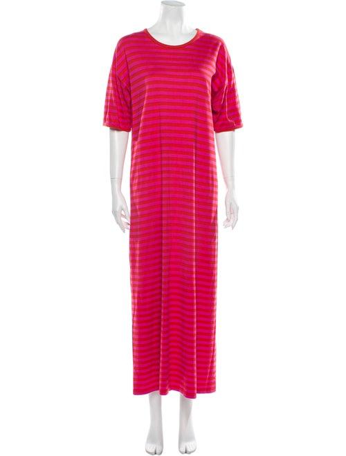 Marimekko Striped Long Dress Red