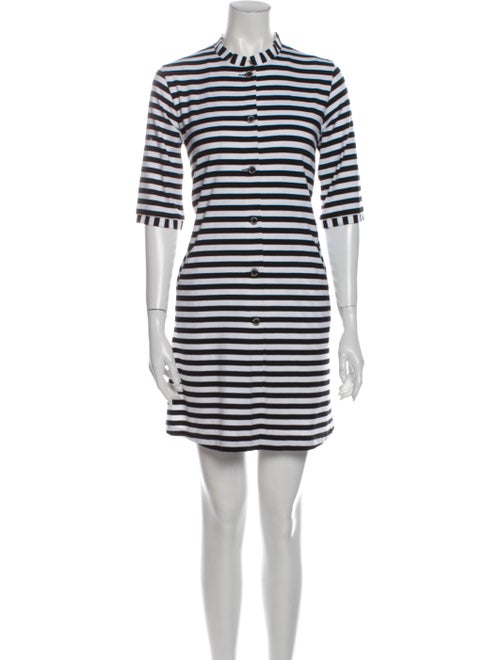 Marimekko Striped Mini Dress Black