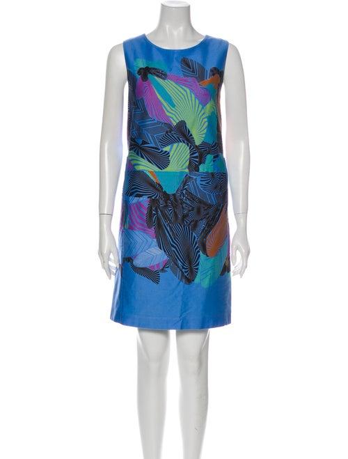 Marimekko Printed Mini Dress Blue