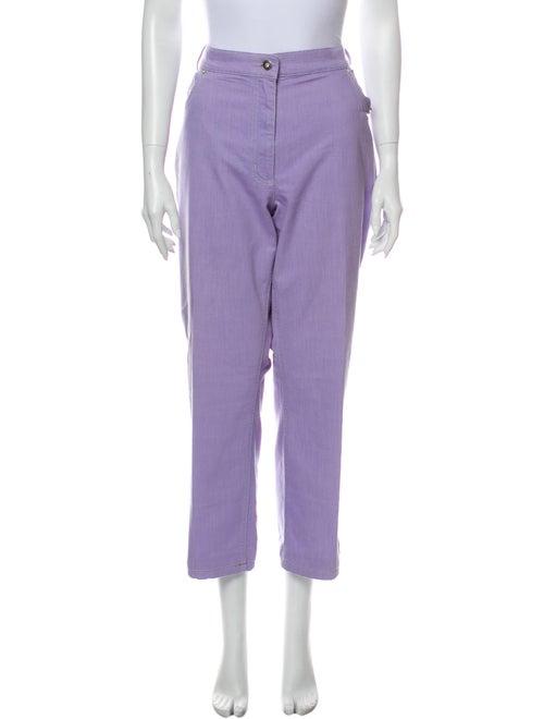 Marina Rinaldi High-Rise Wide Leg Jeans Purple