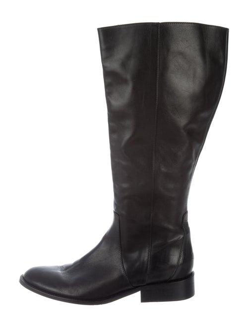 Marina Rinaldi Leather Riding Boots Black