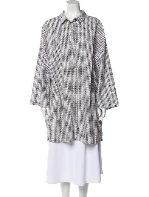 Marina Rinaldi Printed Long Sleeve Tunic White