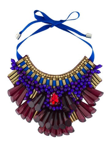 Opulent Beaded Bib Necklace