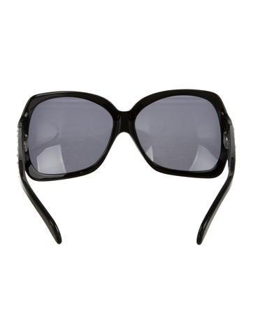 Embellished Square Sunglasses