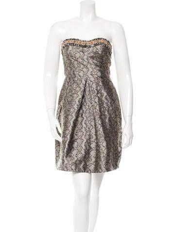 Matthew Williamson Embellished Brocade Dress
