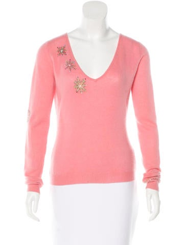 Matthew Williamson Embellished Cashmere Top