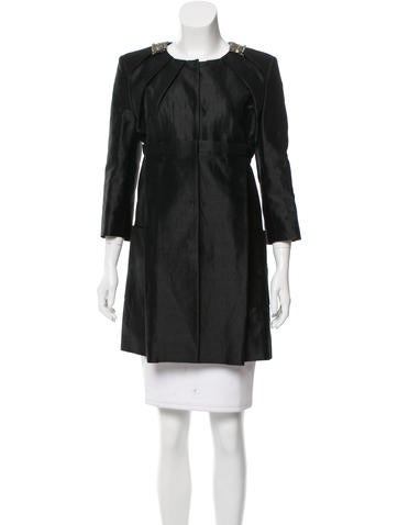 Matthew Williamson Linen Knee-Length Jacket