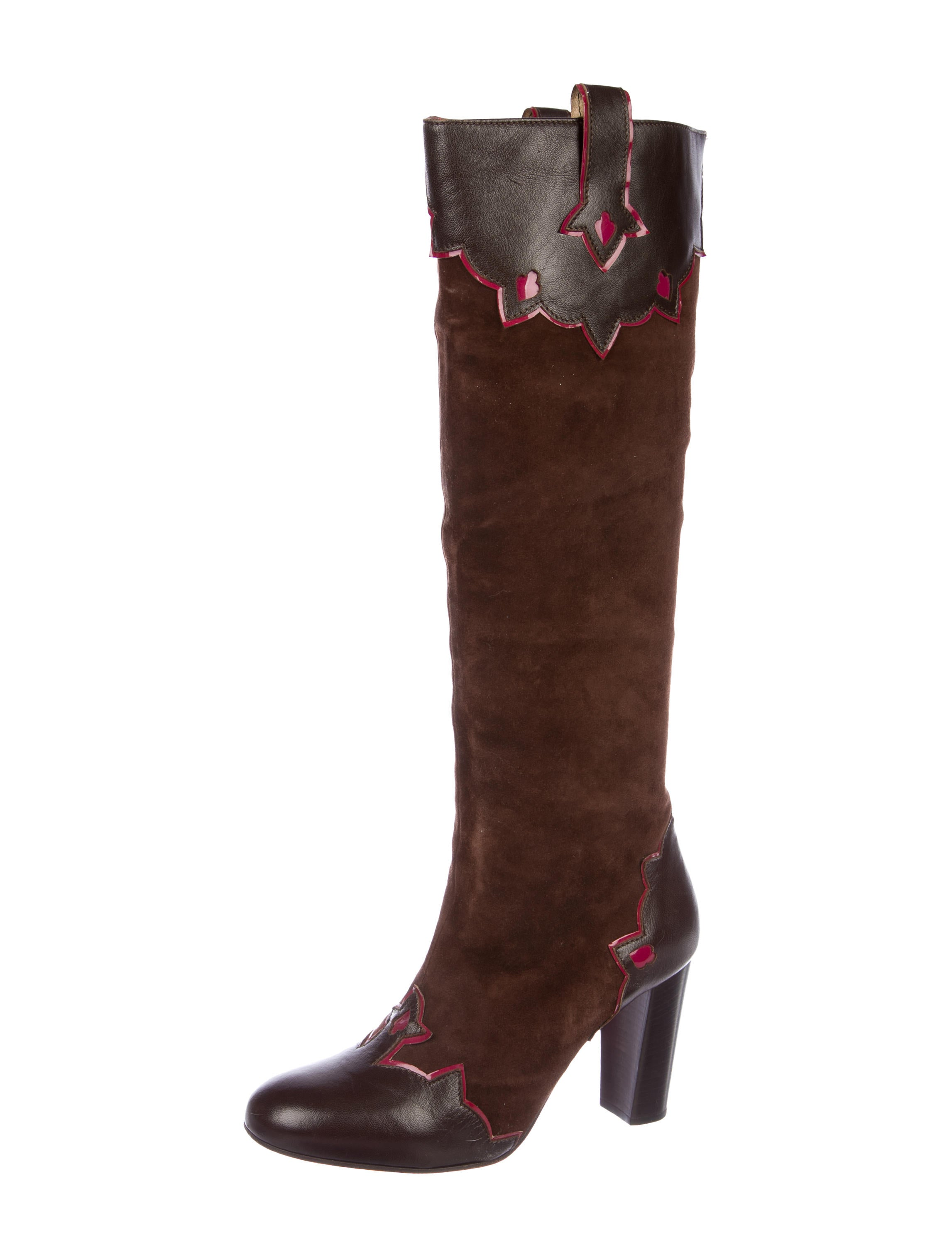 Matthew Williamson Knee-High Suede Boots shop for sale j5gyXWxGr
