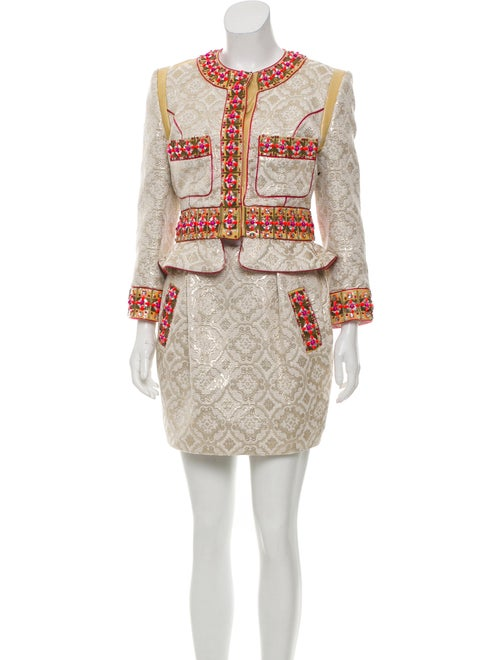 Embellished Brocade Skirt Suit by Matthew Williamson