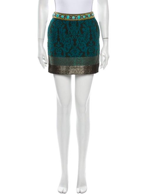 Matthew Williamson Printed Mini Skirt Green