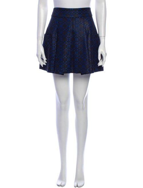 Matthew Williamson Printed Mini Skirt Blue