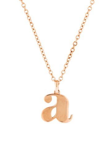Monica vinader alphabet a pendant necklace necklaces mav20298 alphabet a pendant necklace aloadofball Image collections
