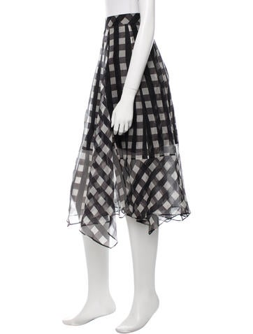 Silk Plaid Skirt w/ Tags