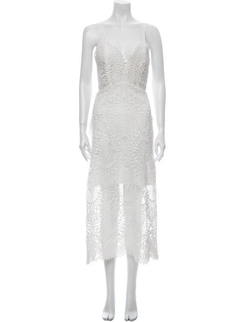 Marissa Webb Lace Pattern Long Dress w/ Tags White