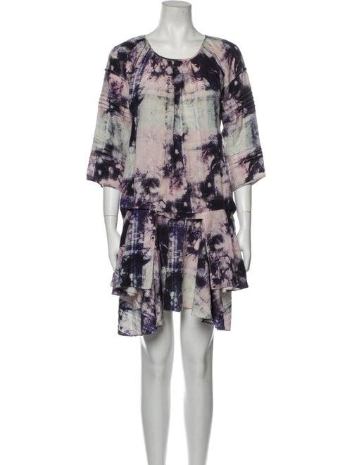 Marissa Webb Silk Mini Dress Blue