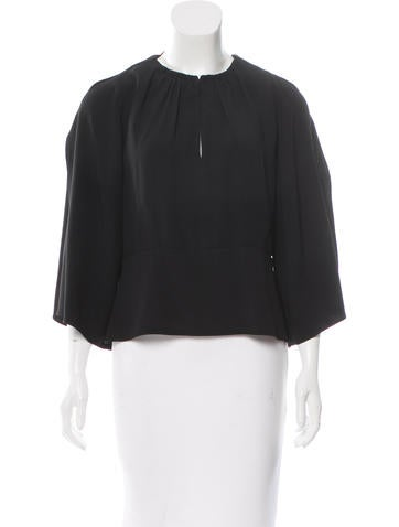 Maiyet Slit-Accented Satin Blouse