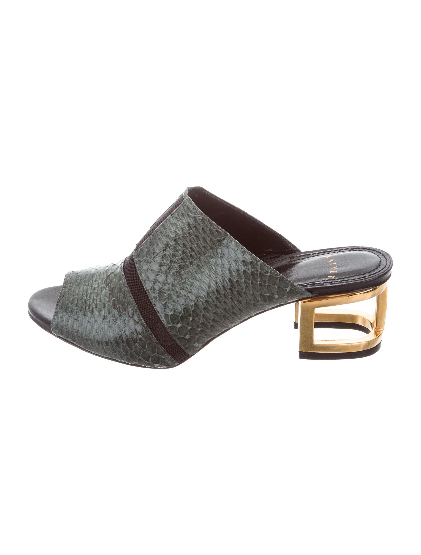 Maiyet Python Slide Sandals sneakernews for sale SGun87Kei2