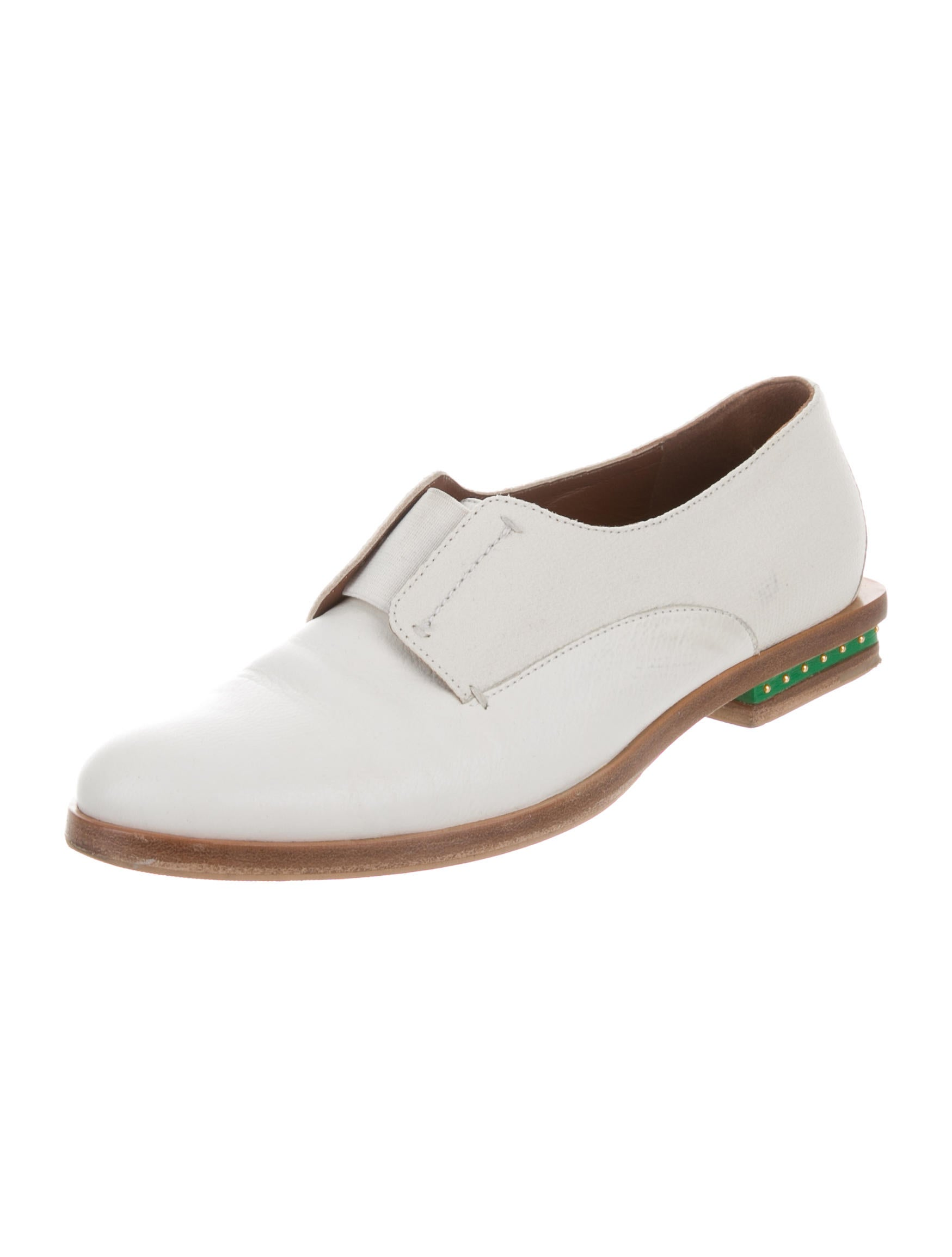 sale wiki Maiyet Leather Round-Toe Oxfords discount new free shipping countdown package HxehNjO