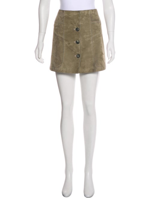Maiyet Suede Mini Skirt