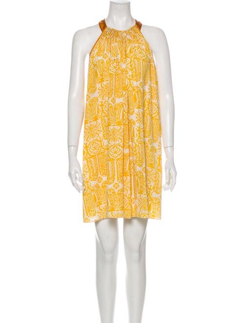 Maiyet Silk Mini Dress Yellow