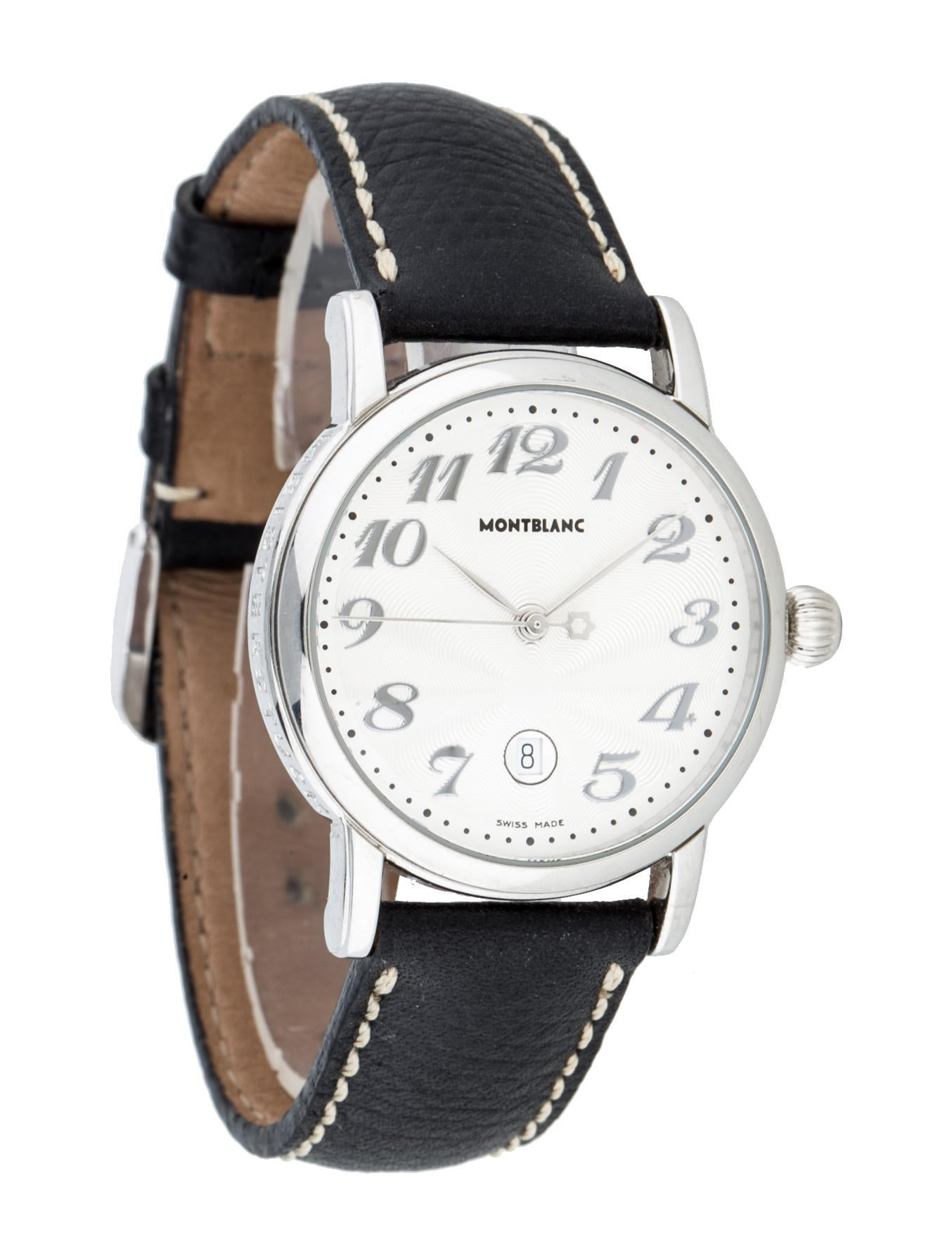 Montblanc meisterstuck watch strap mbl20195 the realreal for Montblanc watches