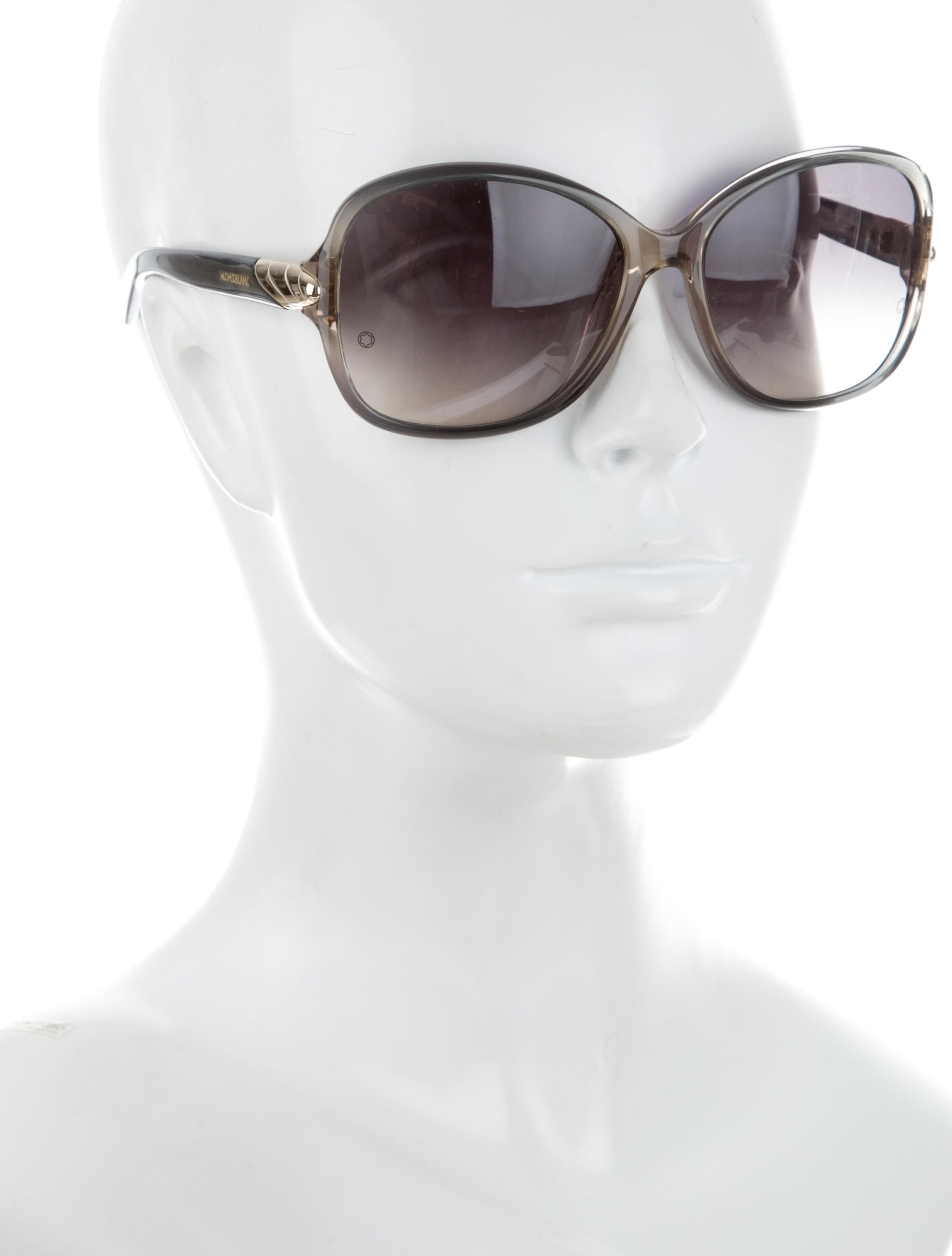 Montblanc Oversize Logo Sunglasses Accessories  : MBL207244enlarged from www.therealreal.com size 2058 x 2715 jpeg 129kB