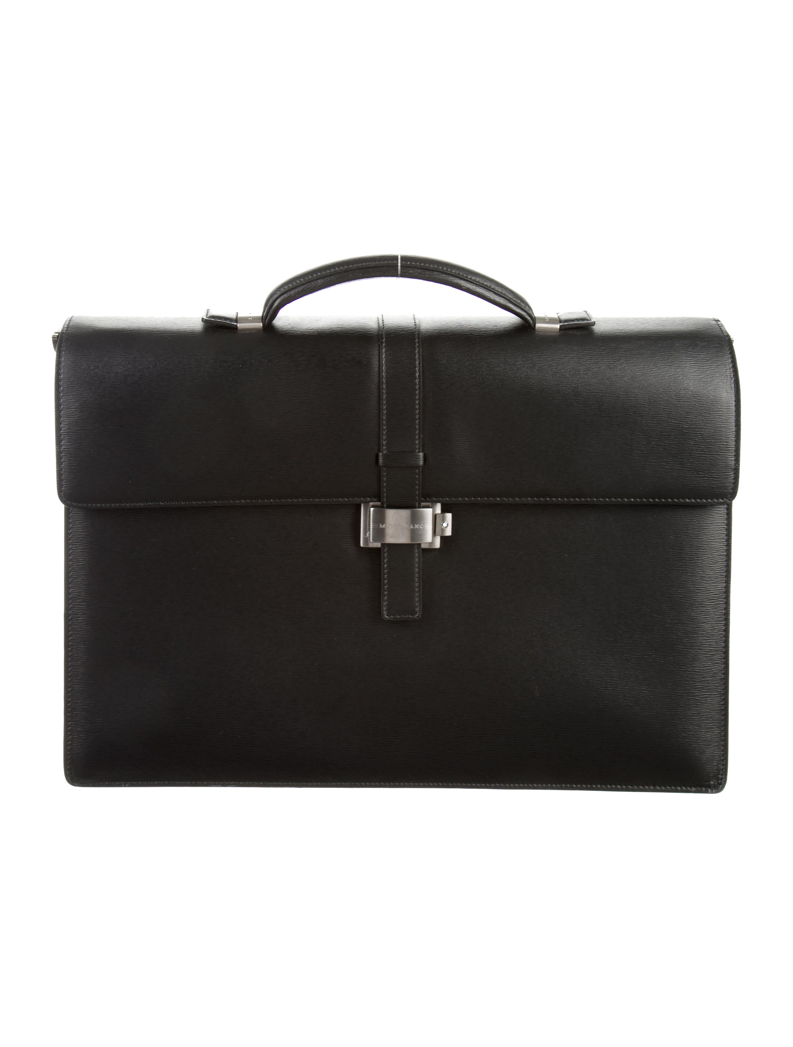 Montblanc Westside Double Gusset Briefcase Bags  : MBL208811enlarged from www.therealreal.com size 2650 x 3496 jpeg 354kB