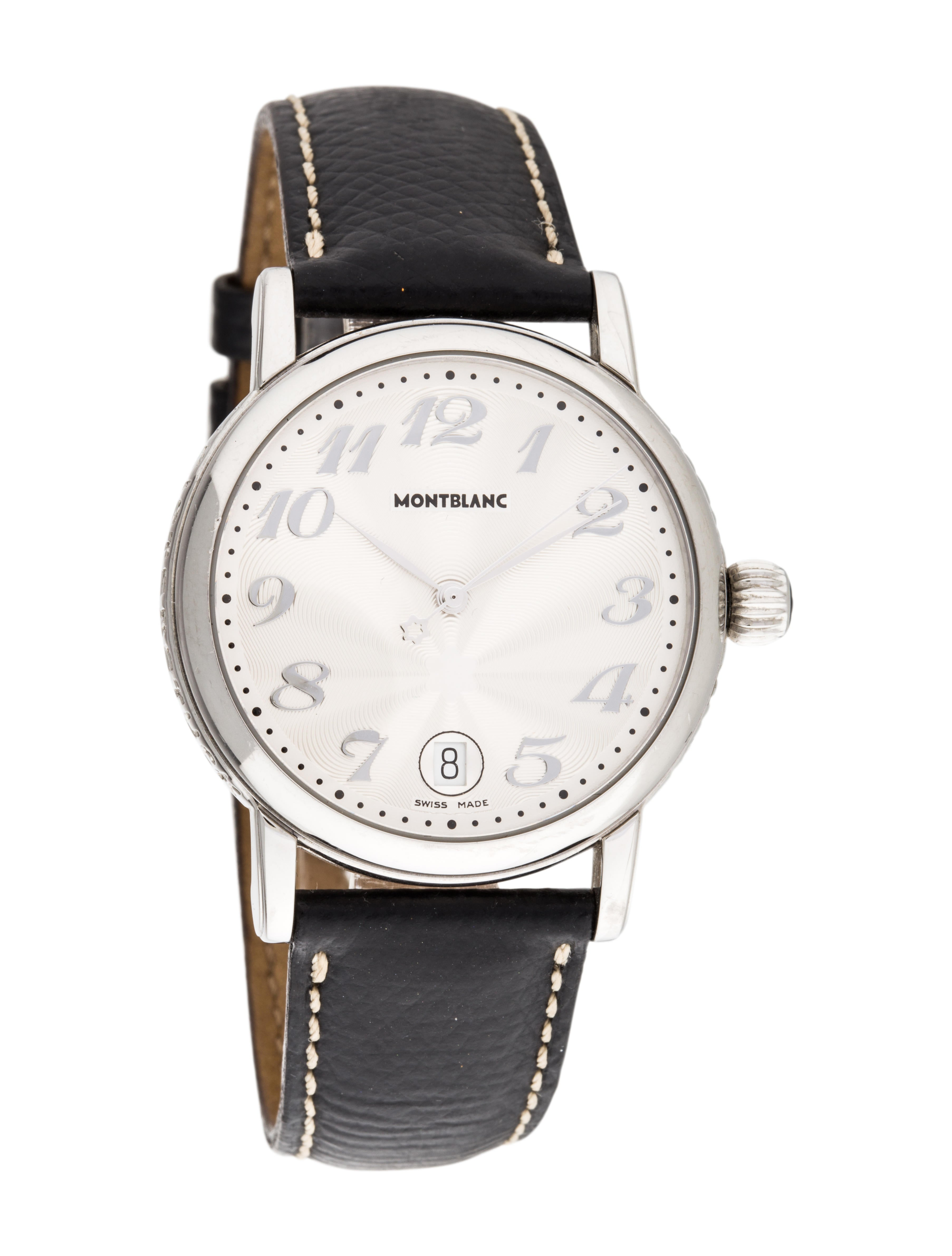 Montblanc meisterstuck watch strap mbl21091 the realreal for Montblanc watches