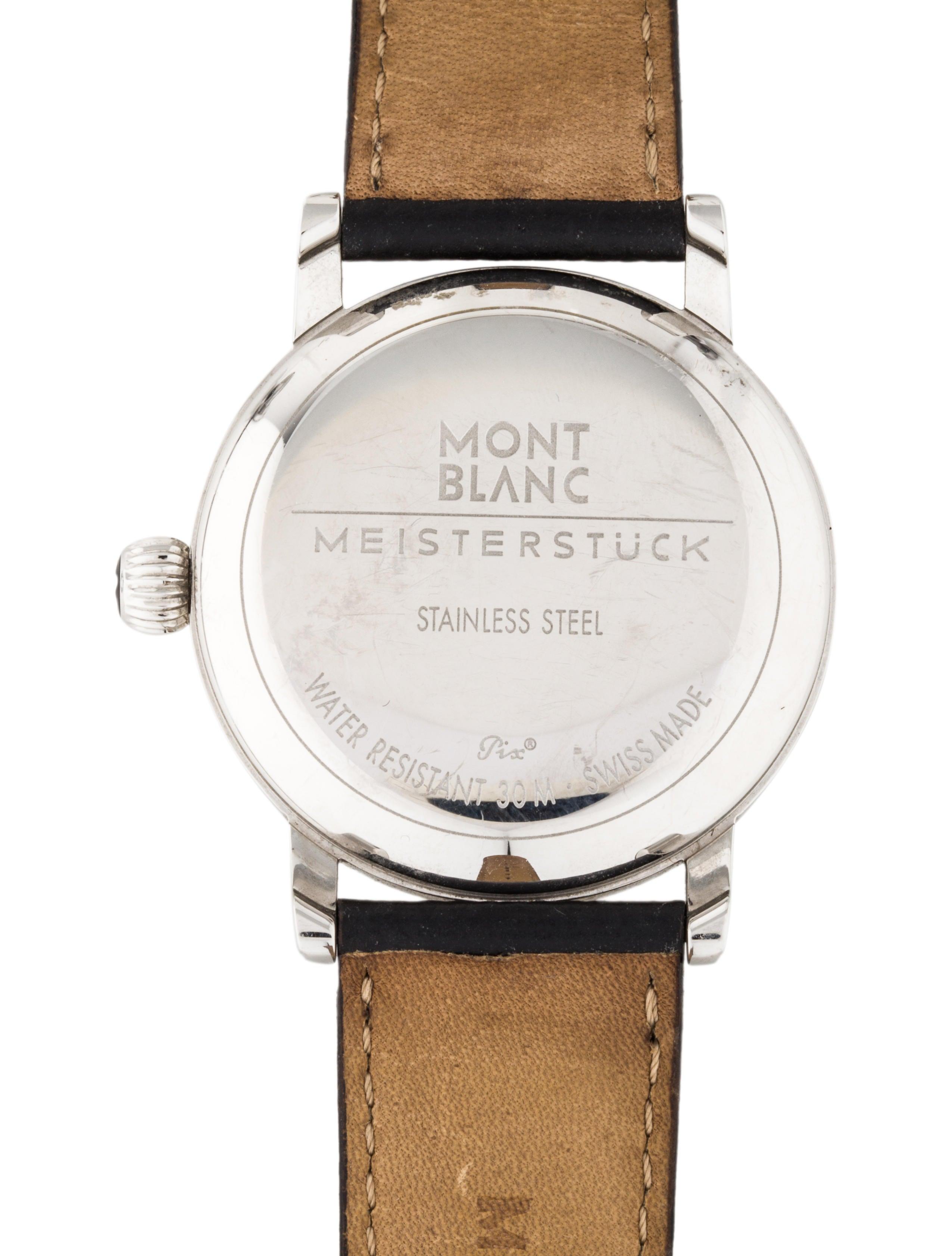 montblanc meisterstuck watch strap