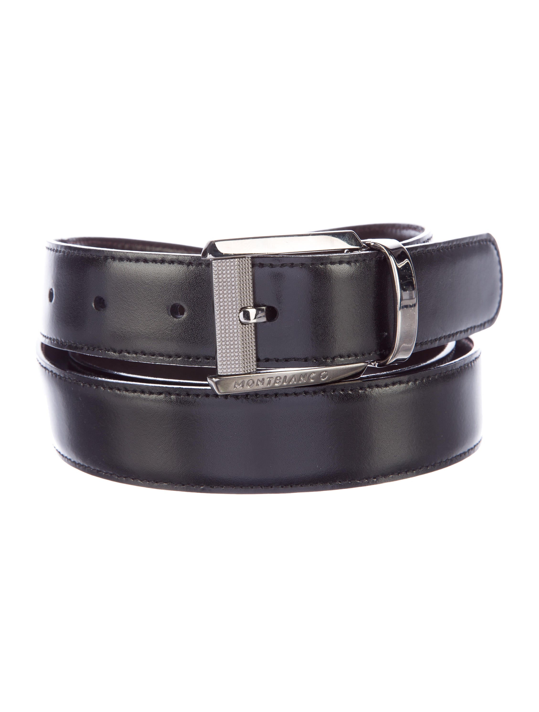 montblanc reversible leather belt accessories mbl21164