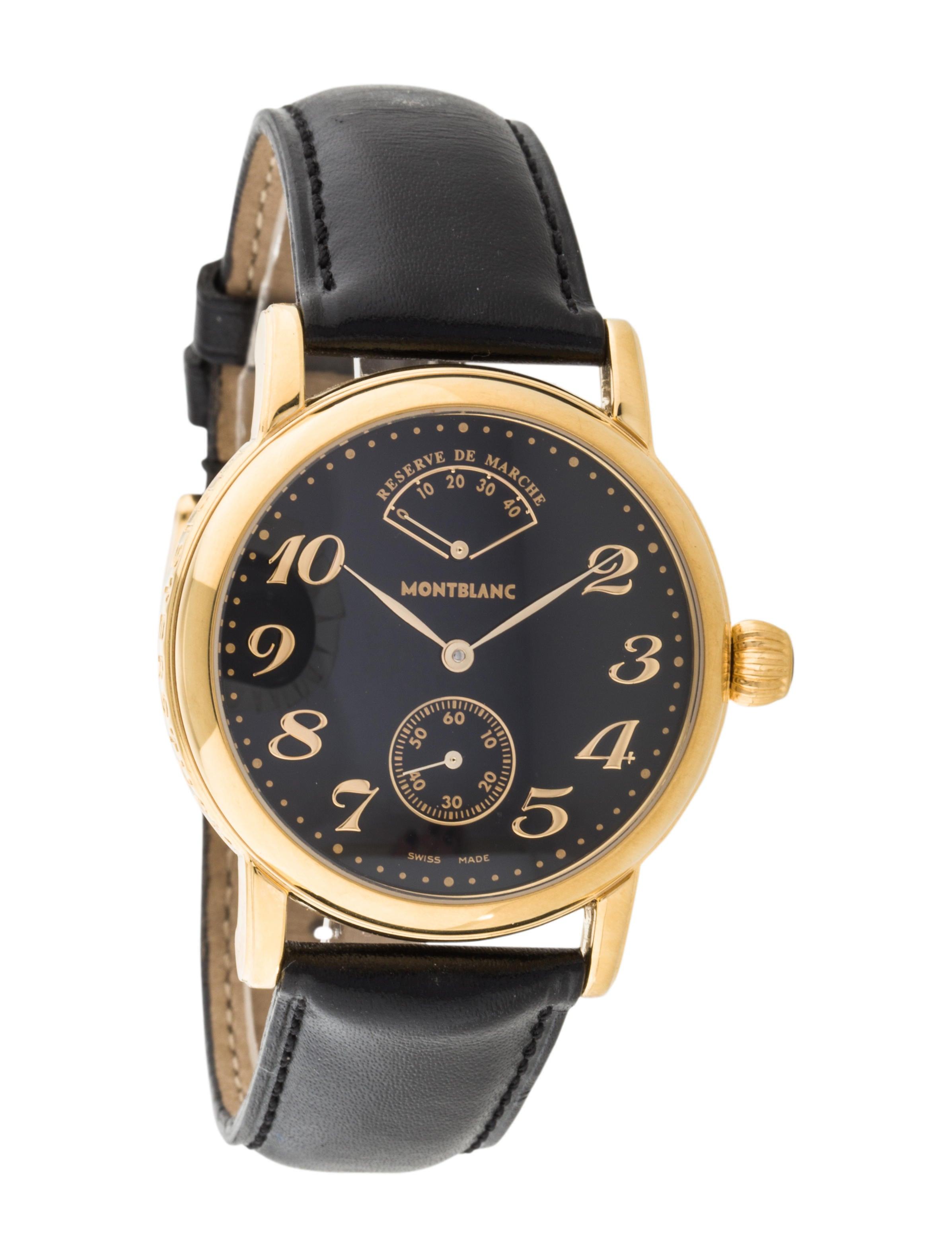 montblanc meisterst ck star watch bracelet mbl21320 the realreal. Black Bedroom Furniture Sets. Home Design Ideas