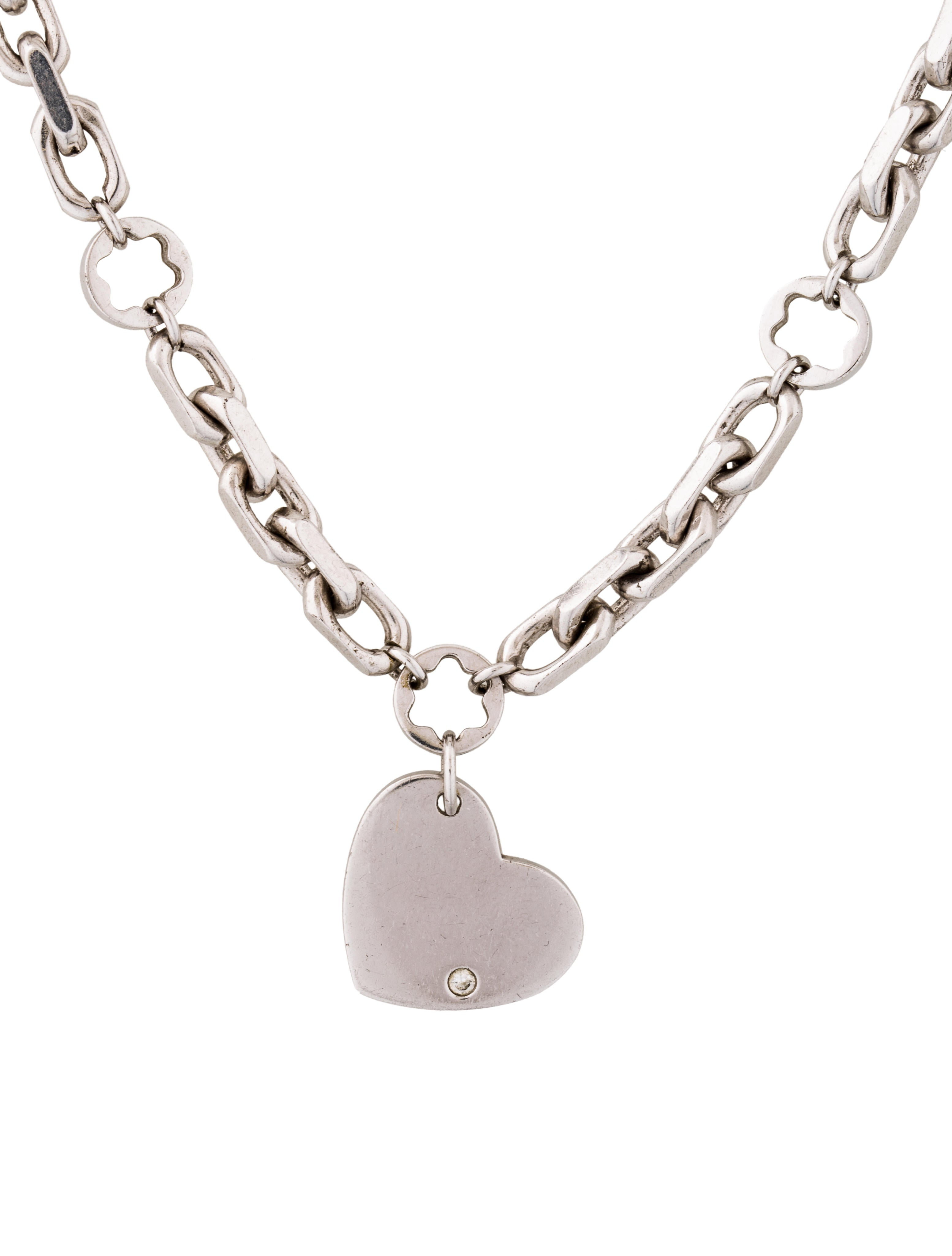 Montblanc Diamond Heart Pendant Necklace Necklaces  : MBL214281enlarged from www.therealreal.com size 3108 x 4100 jpeg 318kB