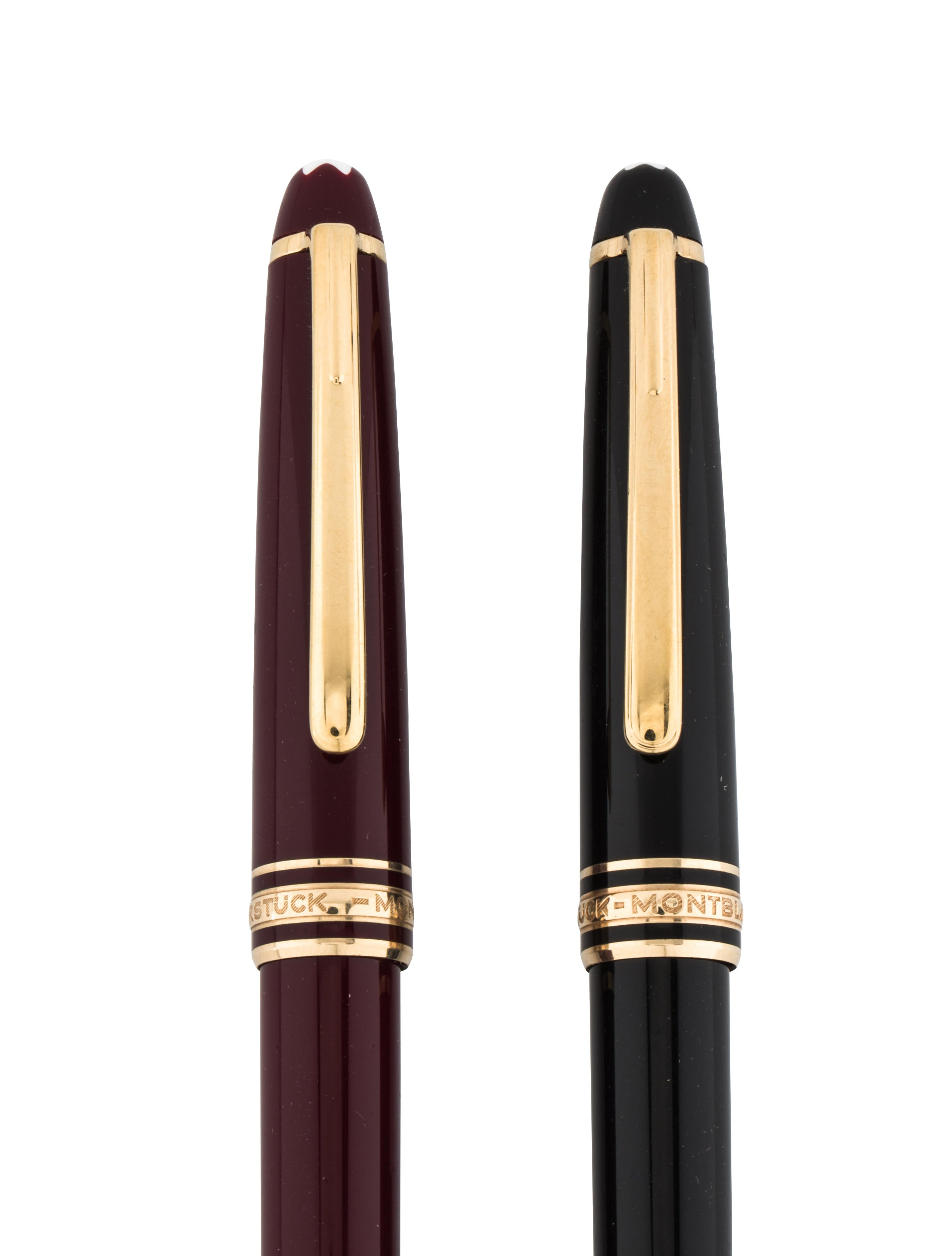 Montblanc Pair of Meisterst252ck Pens Decor And  : MBL214533enlarged from www.therealreal.com size 2796 x 3688 jpeg 279kB