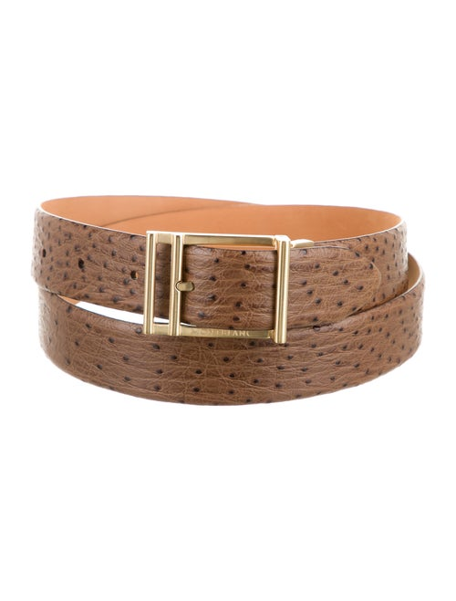 Montblanc Embossed Leather Belt gold