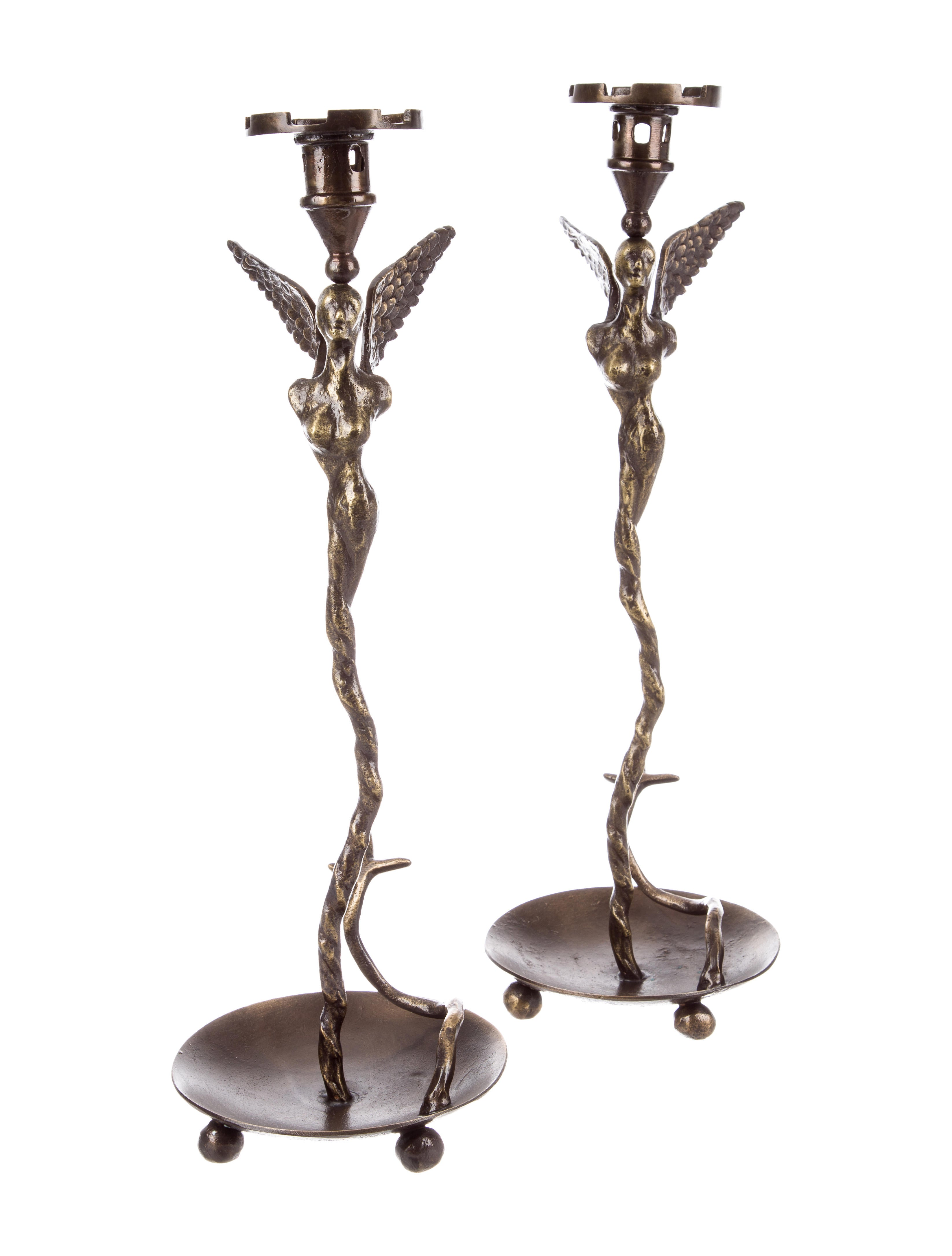 Michael aram melusine candlesticks decor and accessories mca20561 the realreal Home decor candlesticks