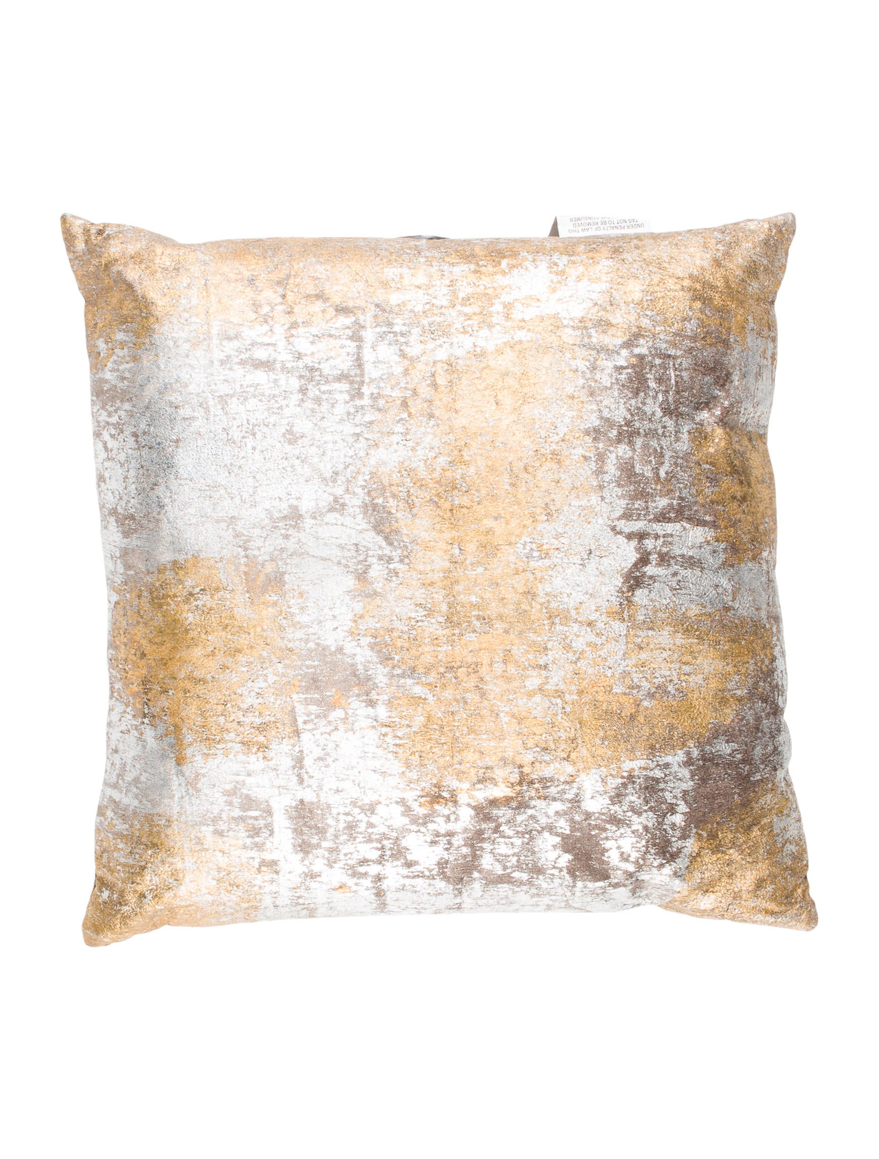 Distressed Velvet Throw Pillow