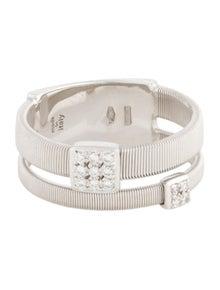 Marco Bicego 18K Diamond Masai Two Strand Ring