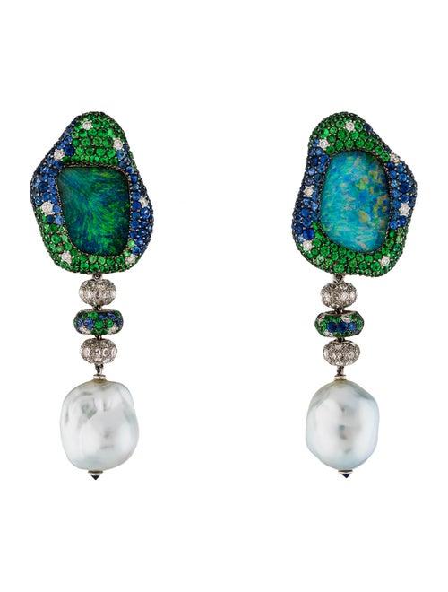 a5c788fbc Margot McKinney 18K Pearl & Multistone Drop Earrings - Earrings ...