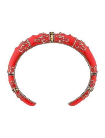 Sapphire Enamel Cuff Bracelet