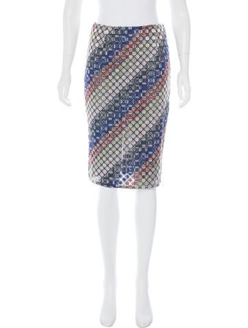 marco de vincenzo embroidered pencil skirt clothing