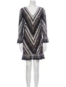 Marco De Vincenzo Patterned Mini Dress