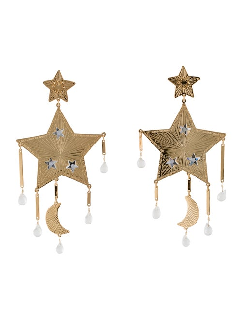 Mercedes Salazar Star Chandelier Earrings Gold