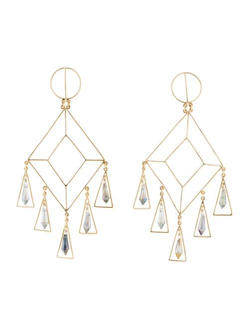 Mercedes Salazar Crystal Drop Earrings Gold