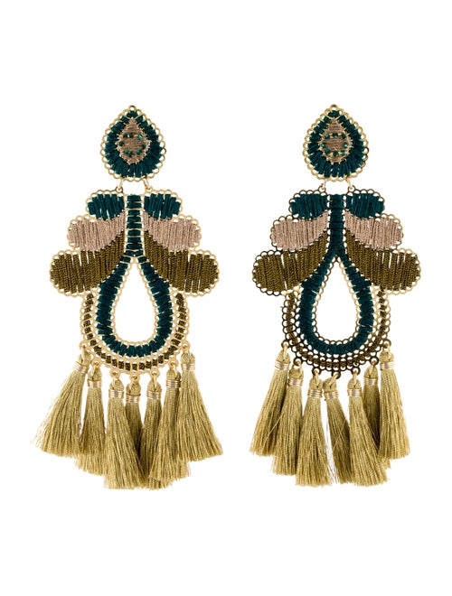 Mercedes Salazar Hazelnut Curubas Clip-On Earrings