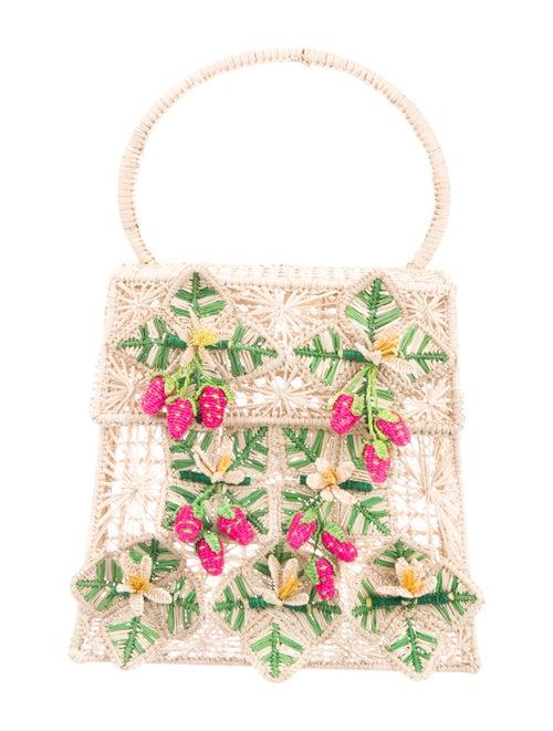 Mercedes Salazar Woven Handle Bag Gold
