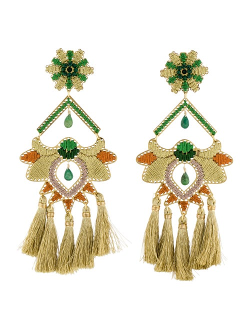 Mercedes Salazar Tassel Clip-On Chandelier Earring