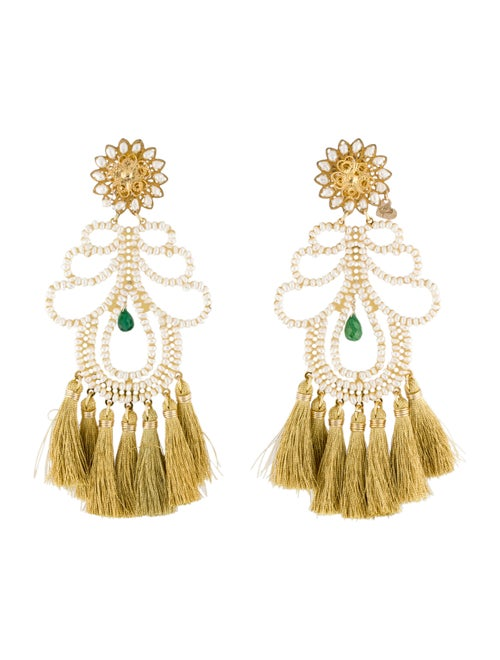 Mercedes Salazar Faux Pearl & Crystal Clip-On Chan
