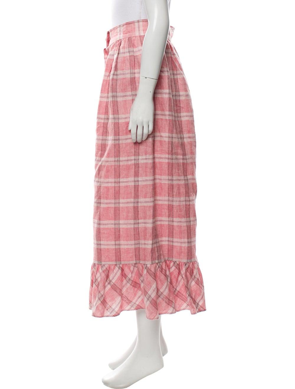 Markarian 2019 Gingham Pattern Skirt Pink - image 2
