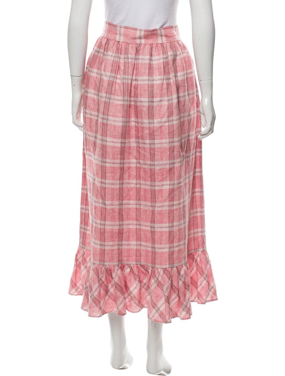 Markarian 2019 Gingham Pattern Skirt Pink - image 3